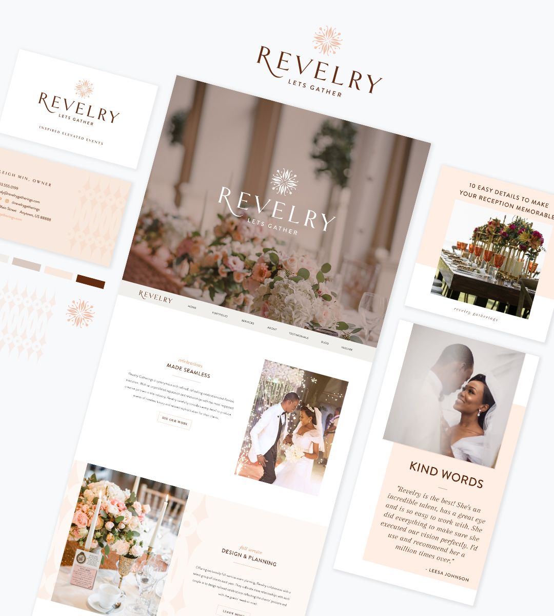wedding planner branding - Revelery - Your Digital Stylist