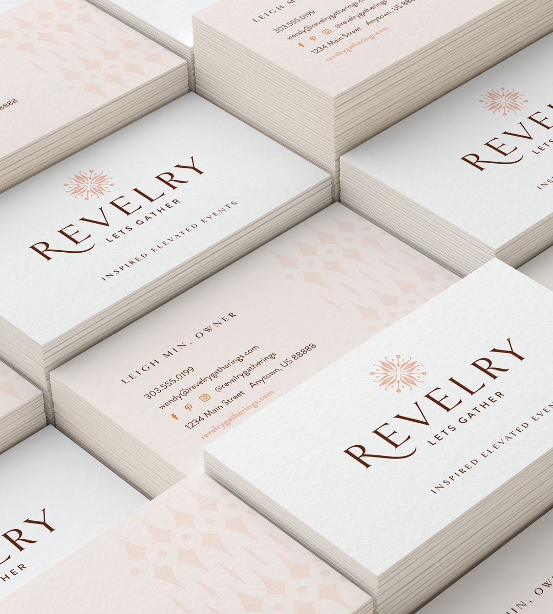 wedding planner business card - Revelery3 - Your Digital Stylist