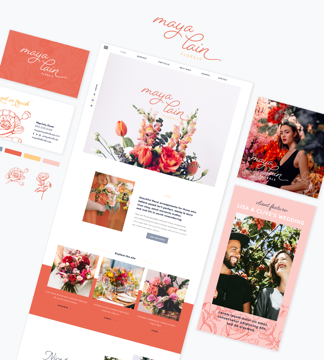 Branding for Wedding Professionals - Maya Collection1