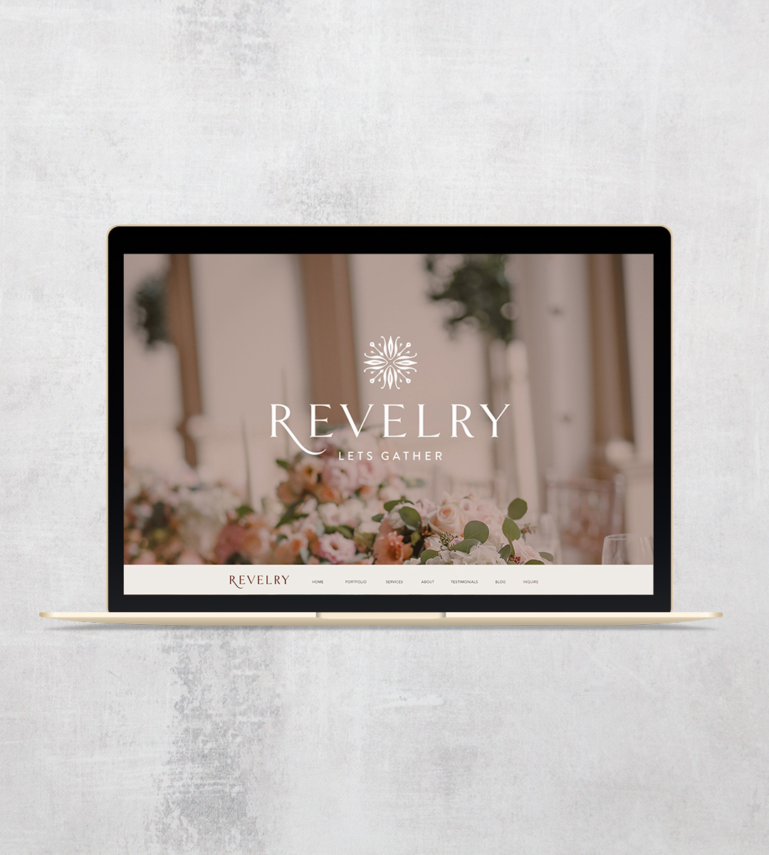 wedding planner branding and web design - Revelery2 - Your Digital Stylist
